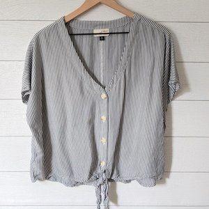 Universal Thread Striped Tie Front Blouse XXL